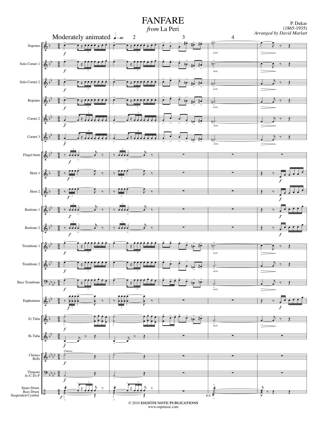 Fanfare from La Peri - Paul Dukas