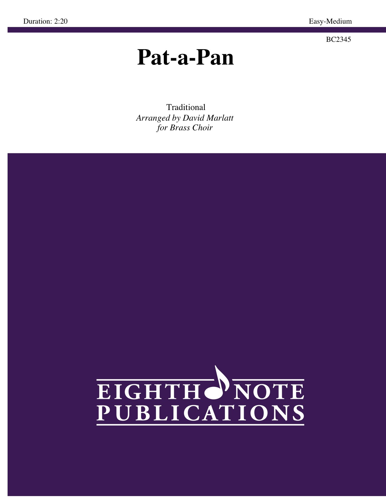 Eighth Note Publications - Pat-a-Pan