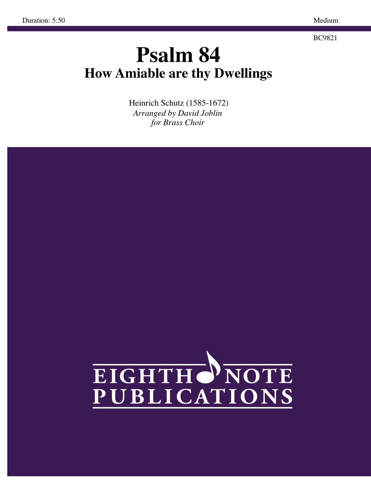 Eighth Note Publications - Psalm 84-How Amiable are thy Dwellings