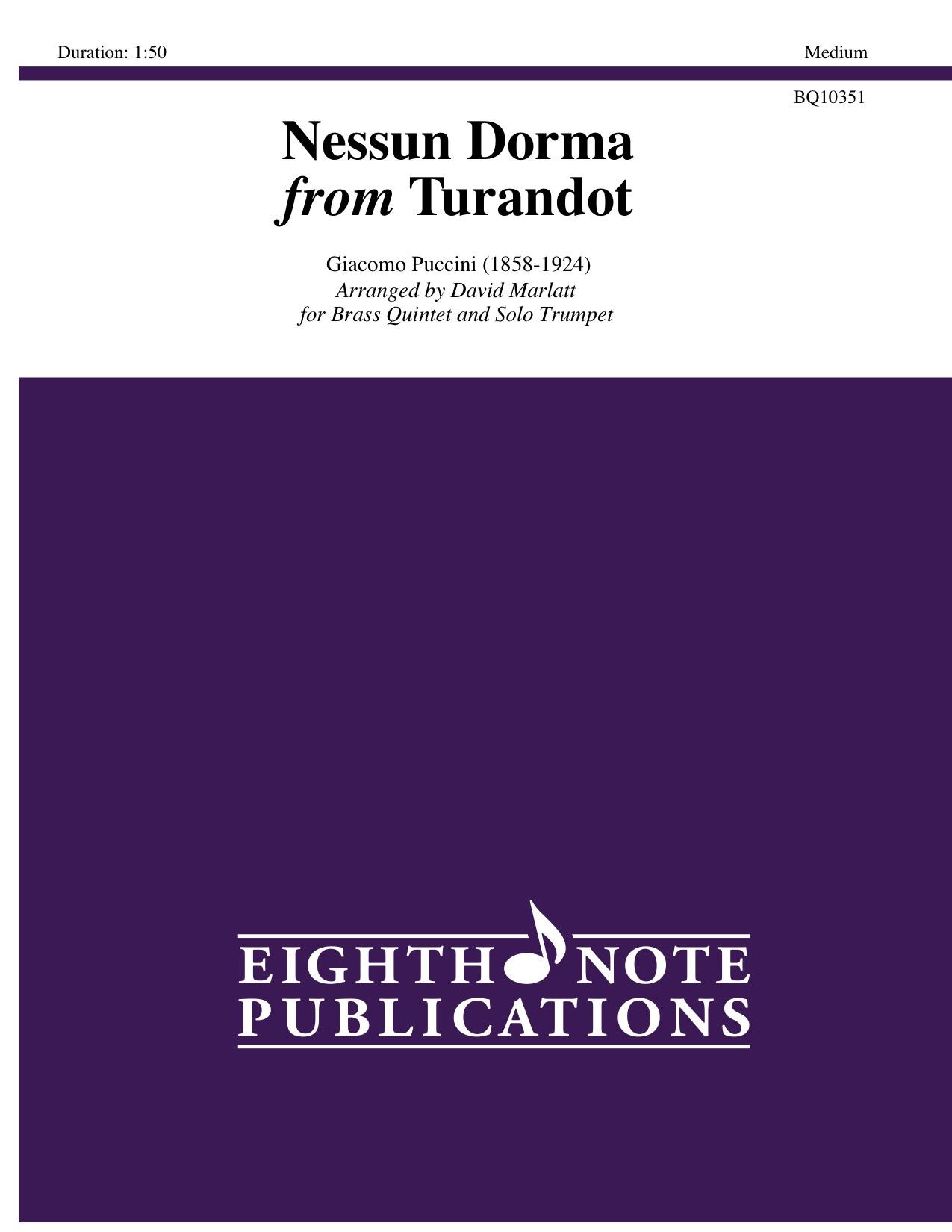 Nessun Dorma from Turandot - Giacomo Puccini