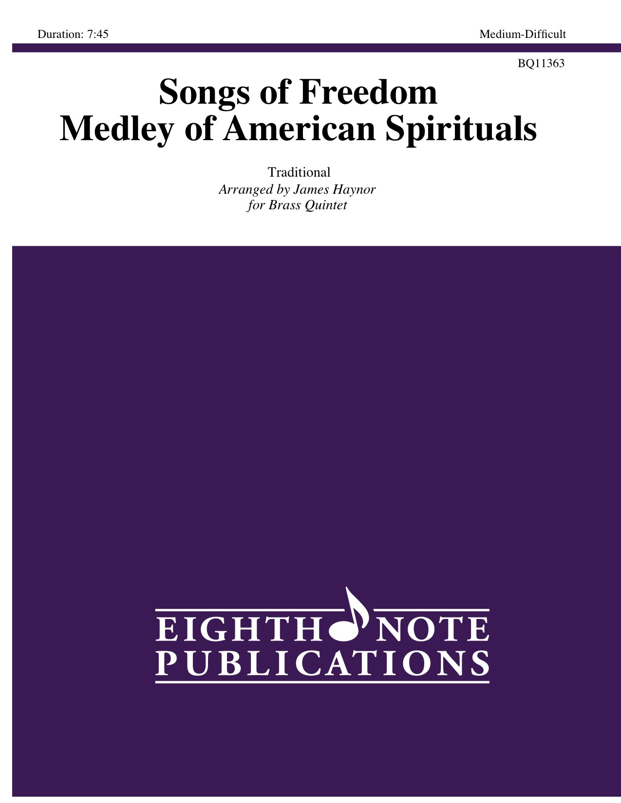 Songs of Freedom  - Medley of American Spirituals -  Traditional