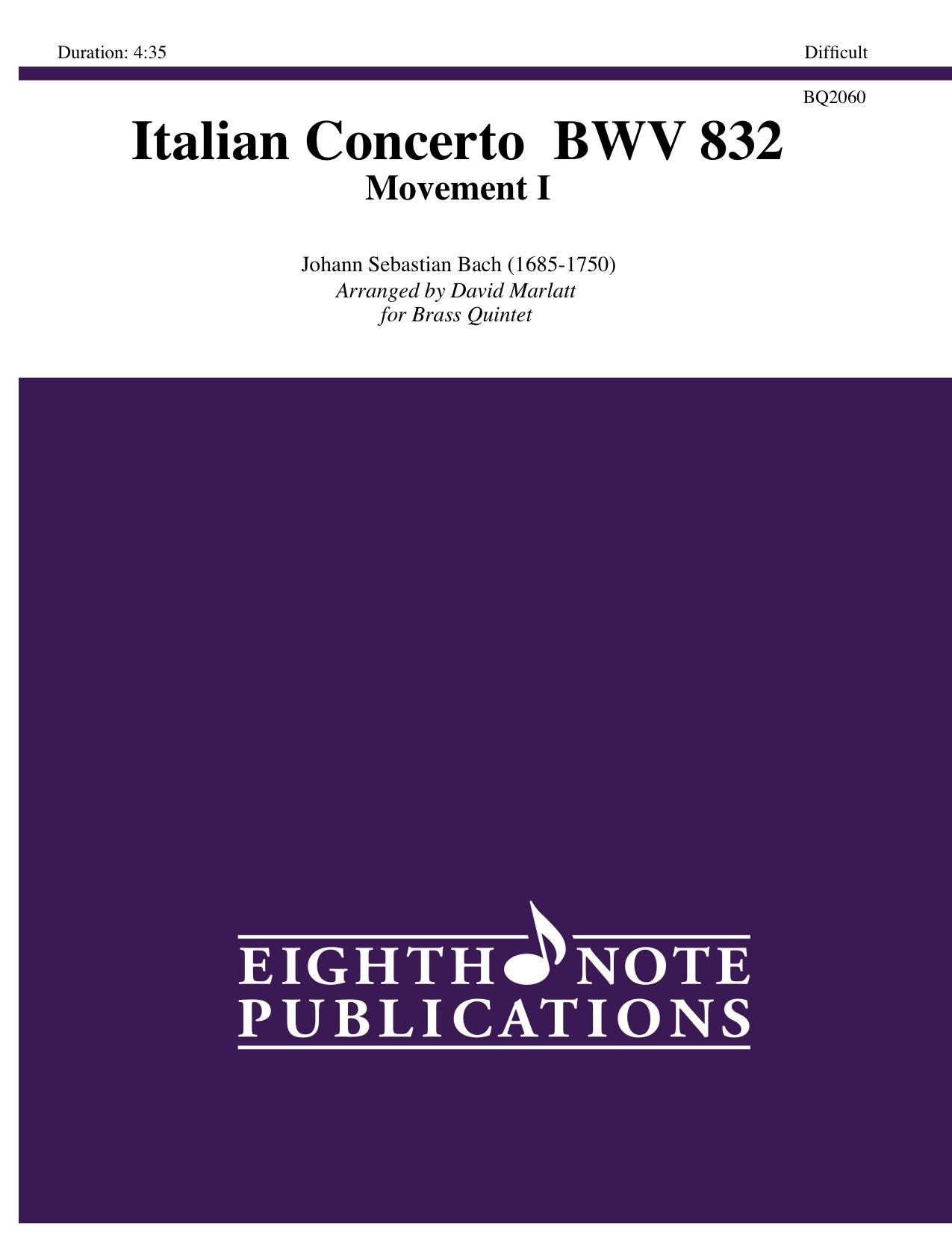 Italian Concerto-Movement I    BWV 832 - Johann Sebastian Bach