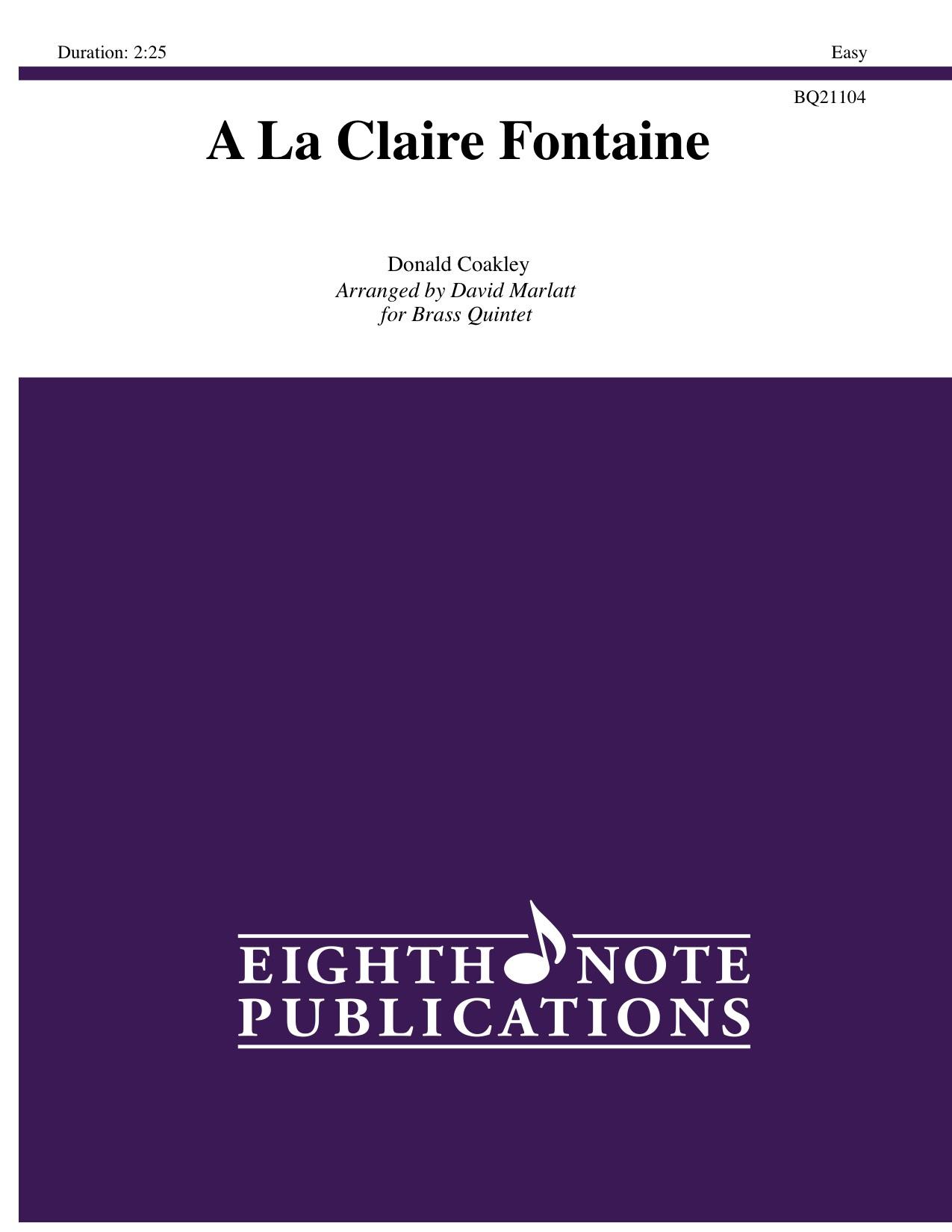 A La Claire Fontaine - Donald Coakley