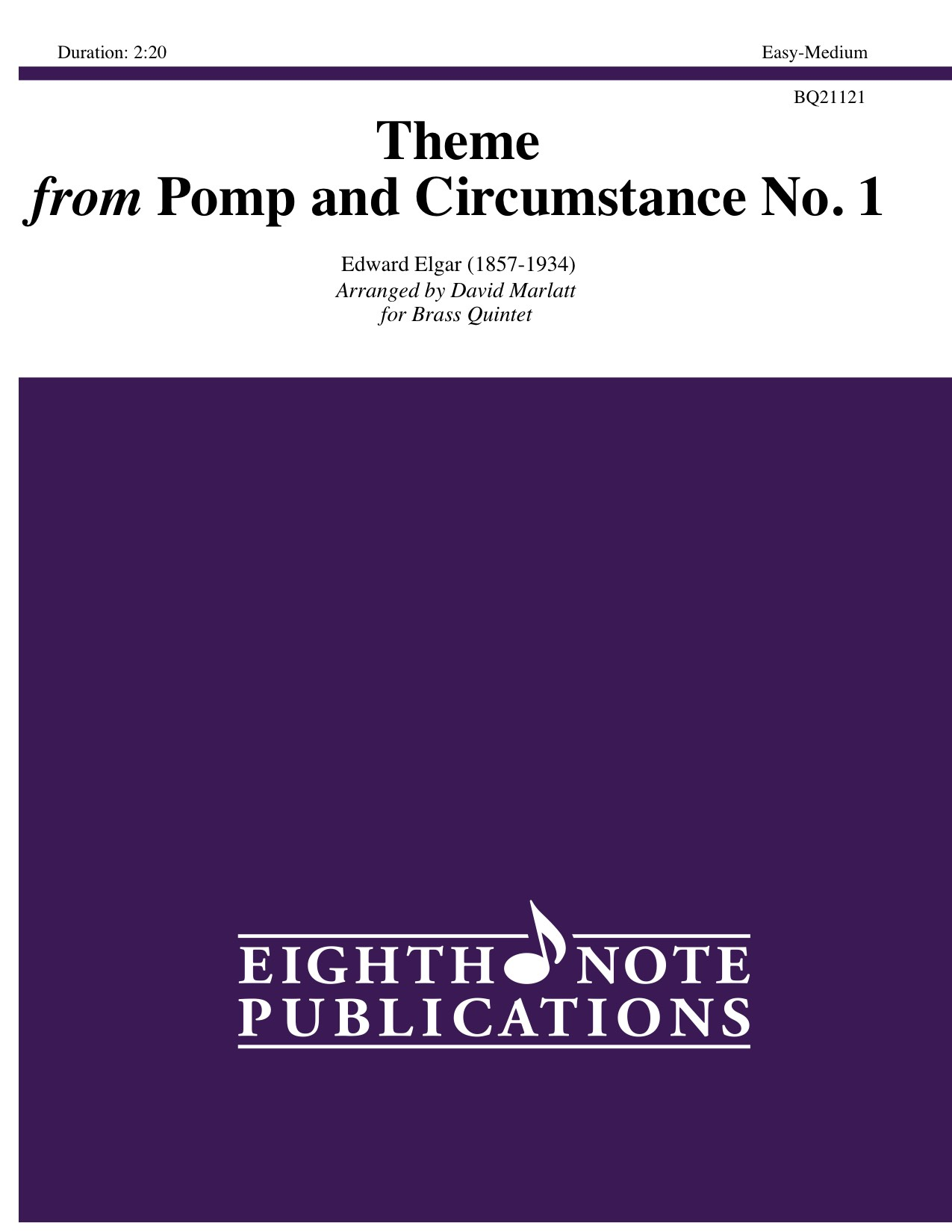 Pomp and circumstance no 1 theme for brass quintet for Pomp and circumstance