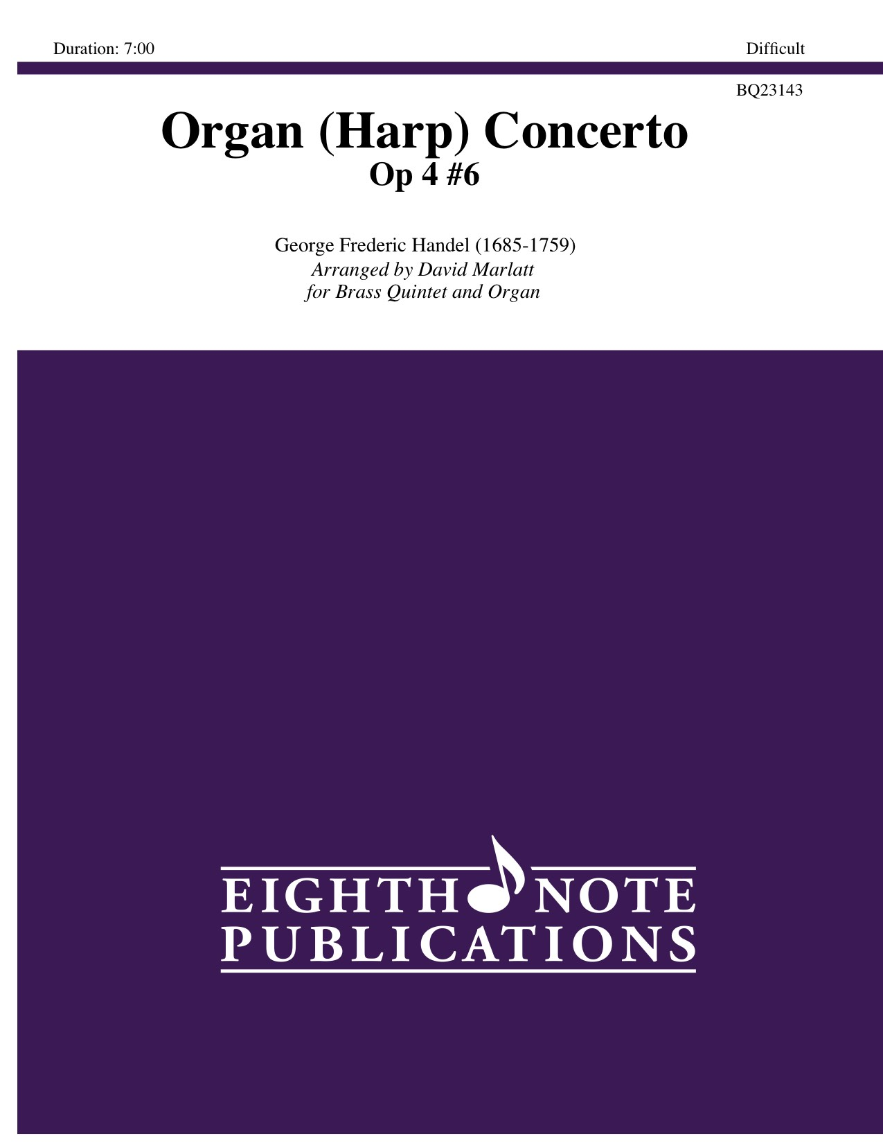 Organ (Harp) Concerto Op 4 #6 - George Frederic Handel