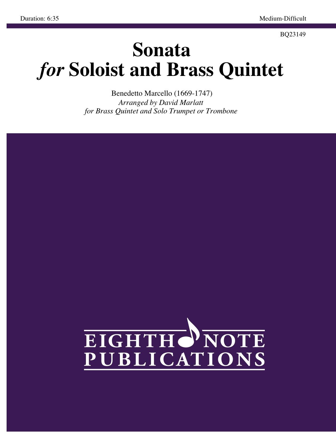 Sonata for Soloist and Brass Quintet - Benedetto Marcello