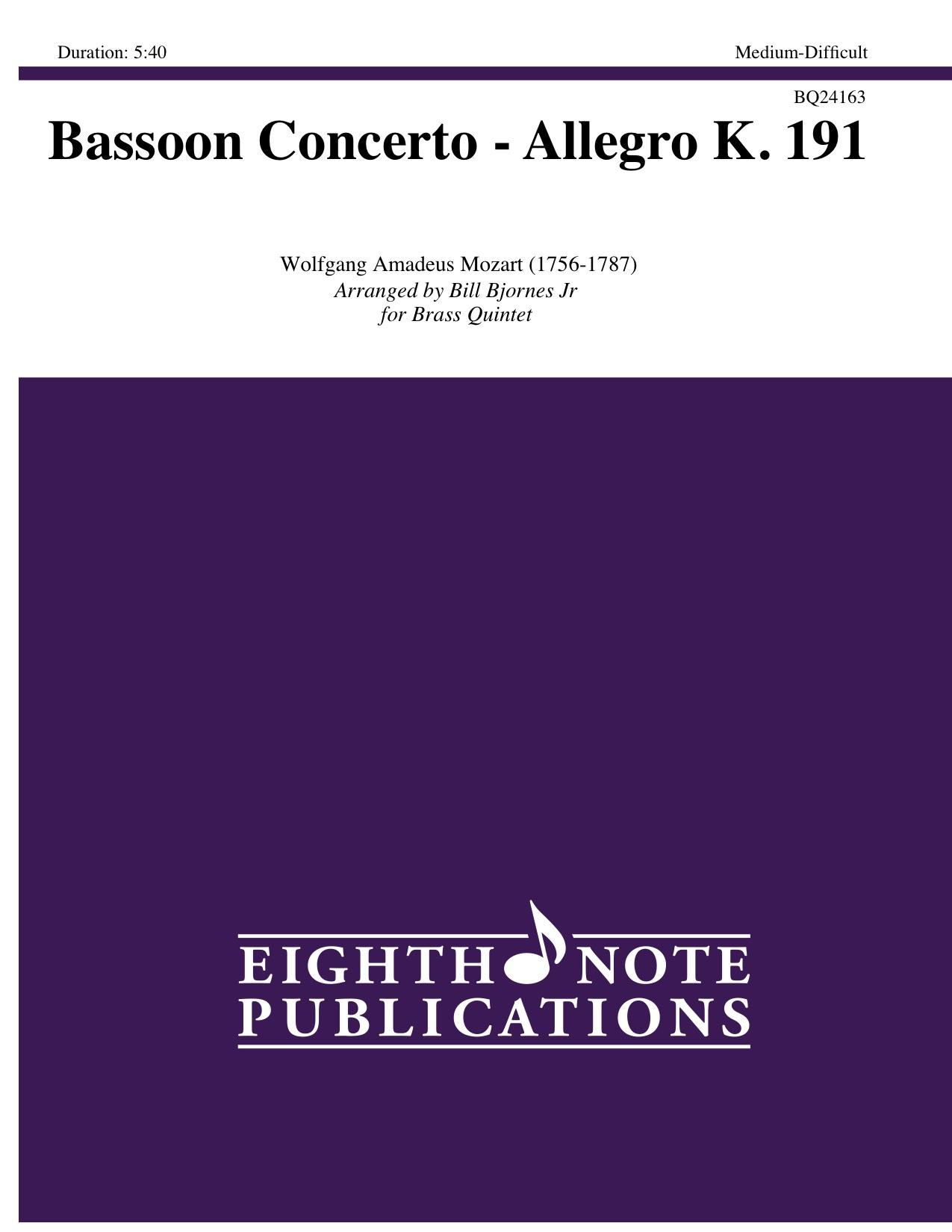 Bassoon Concerto - Allegro K. 191 - Wolfgang Amadeus Mozart