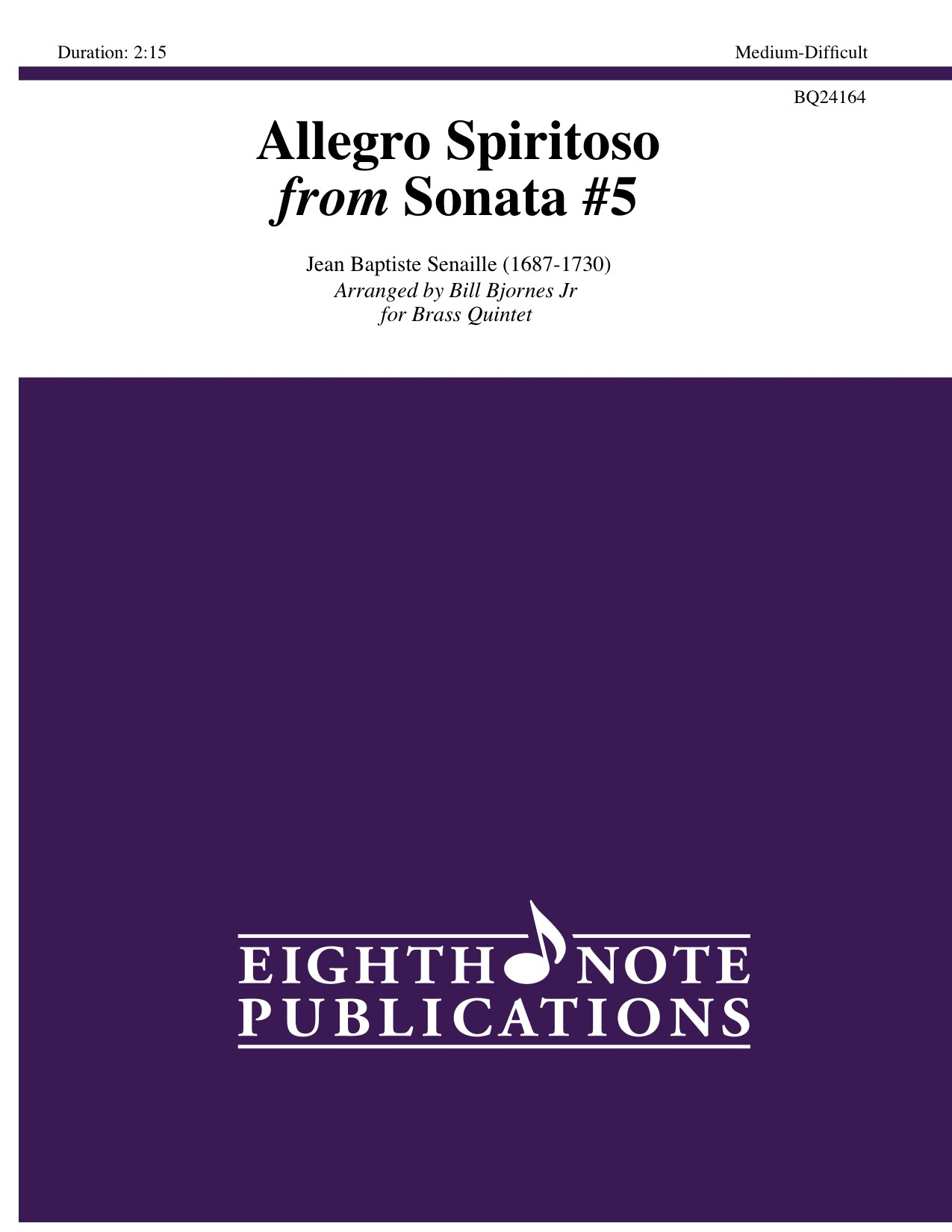 Allegro Spiritoso from Sonata #5 - Jean Baptiste Senaille