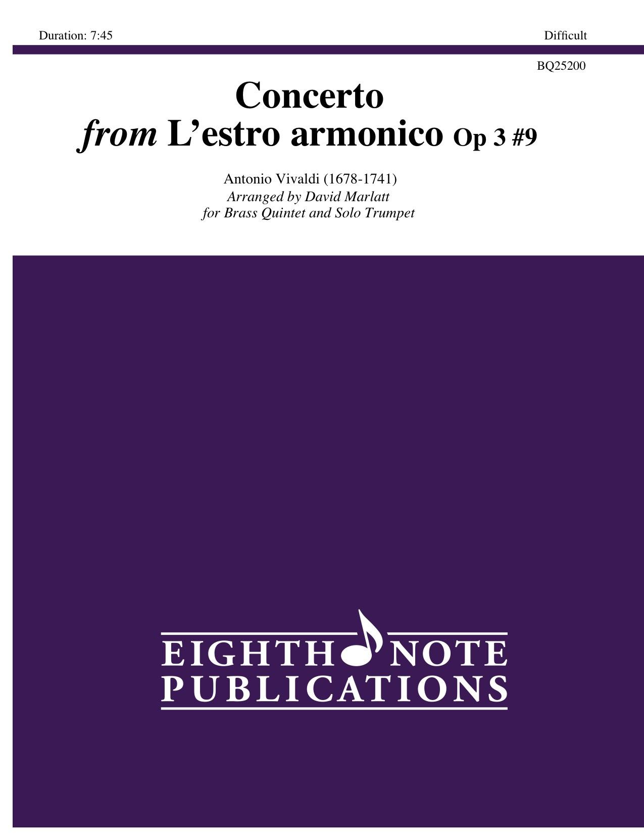 Concerto from Lestro armonico Op 3 #9 -