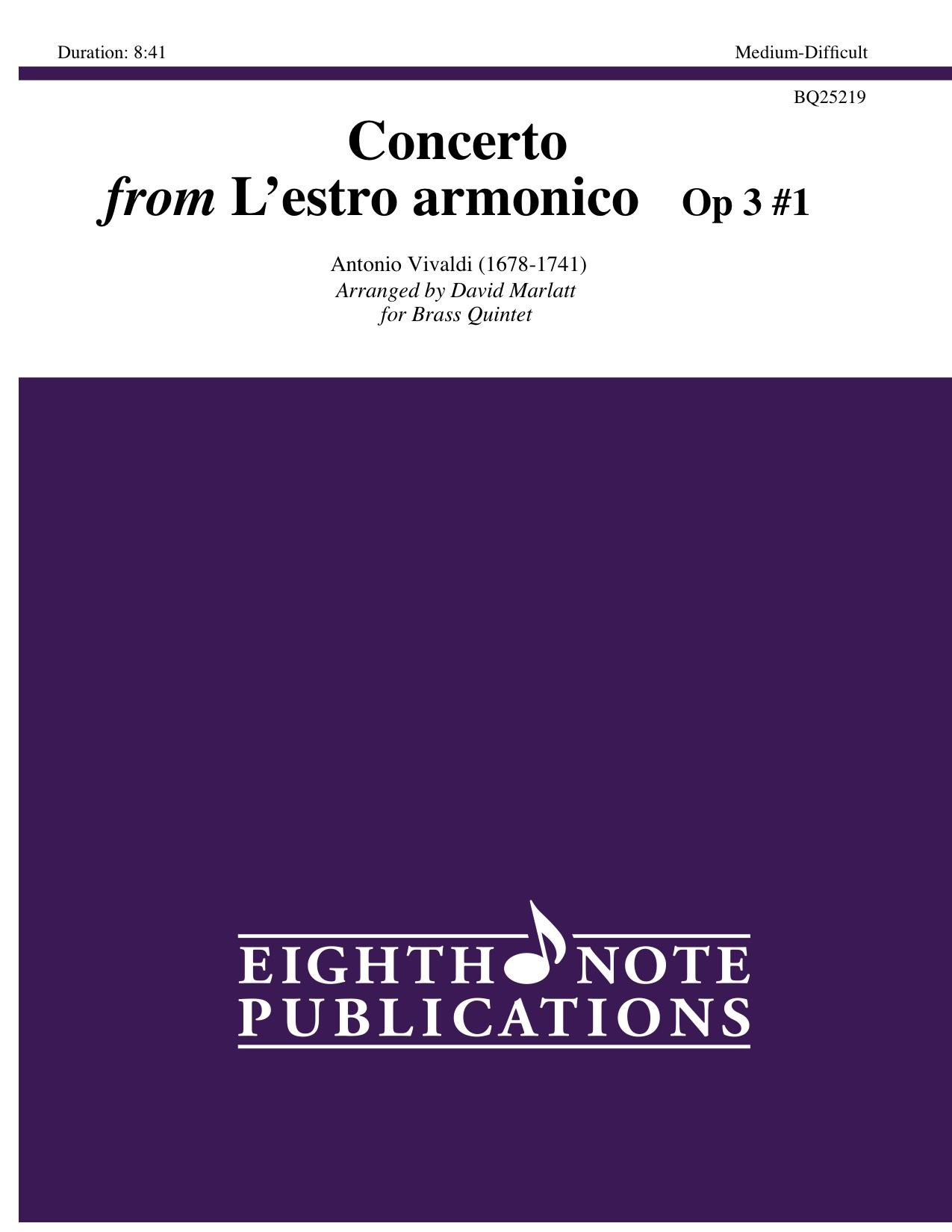 Concerto from Lestro armonico Op 3 #1  -