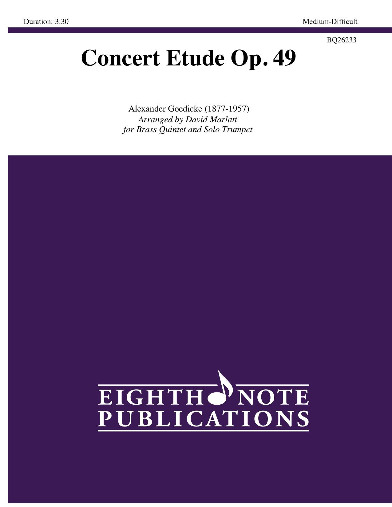 Concert Etude Op. 49 - Alexander Goedicke