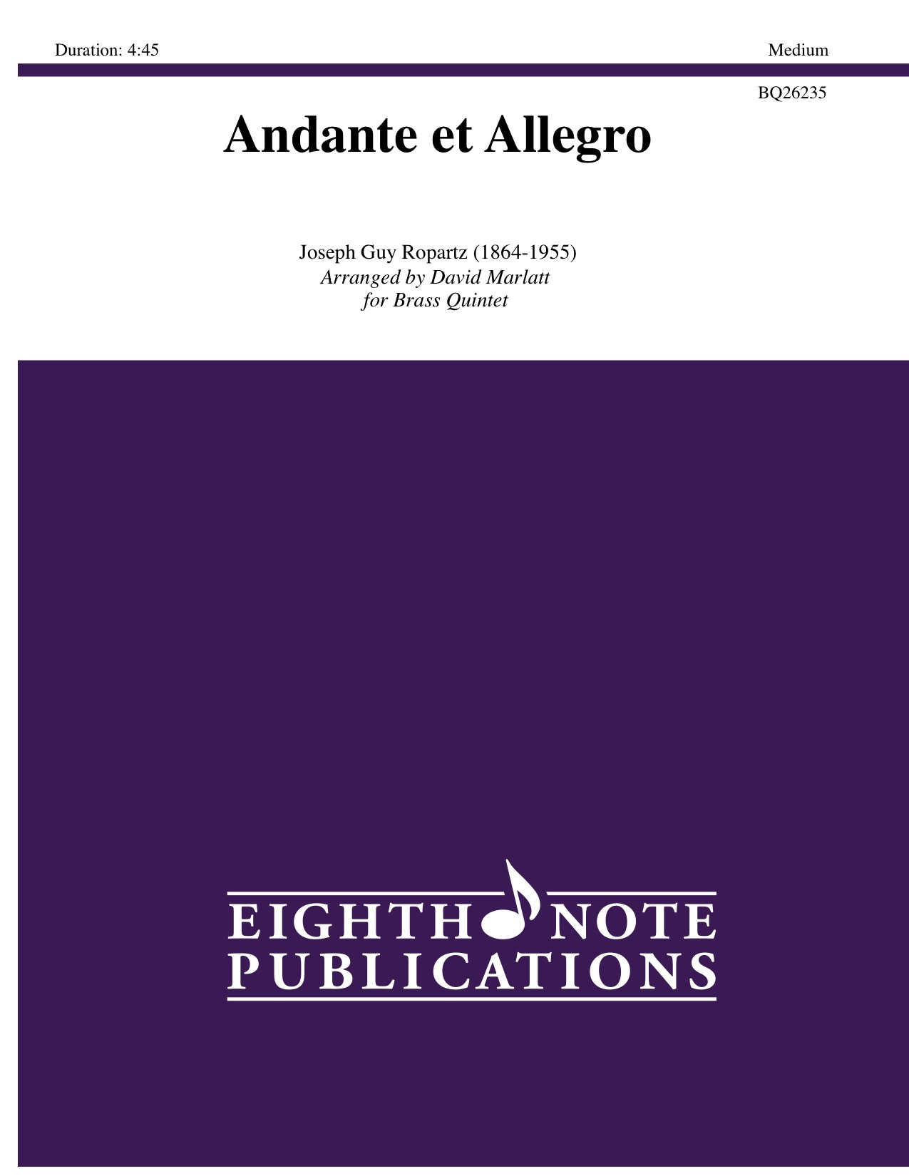 Andante et Allegro - Joseph Guy Ropartz