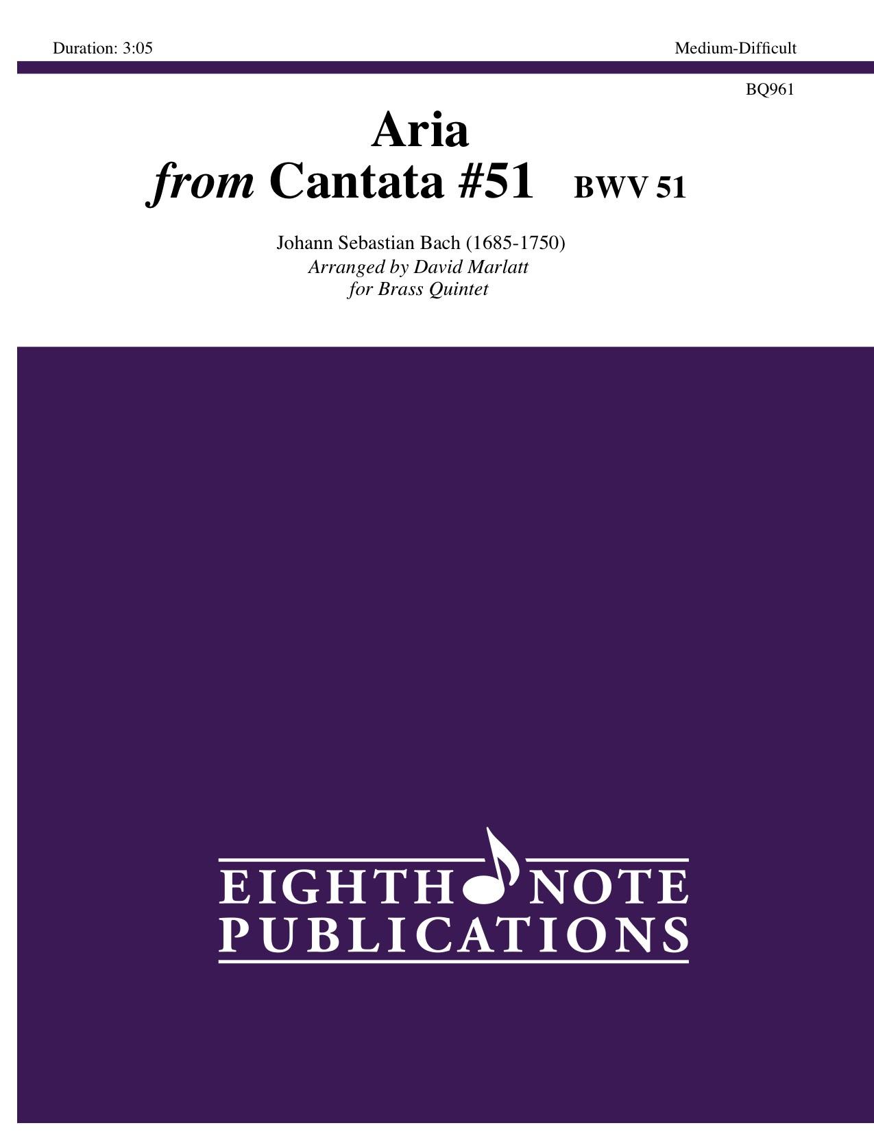 Aria from Cantata 51  BWV 51  - Johann Sebastian Bach