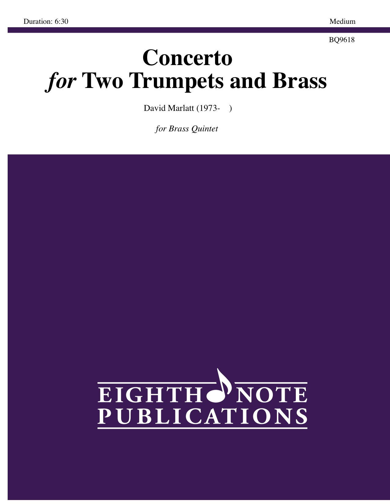 Concerto for Two Trumpets and Brass - David Marlatt