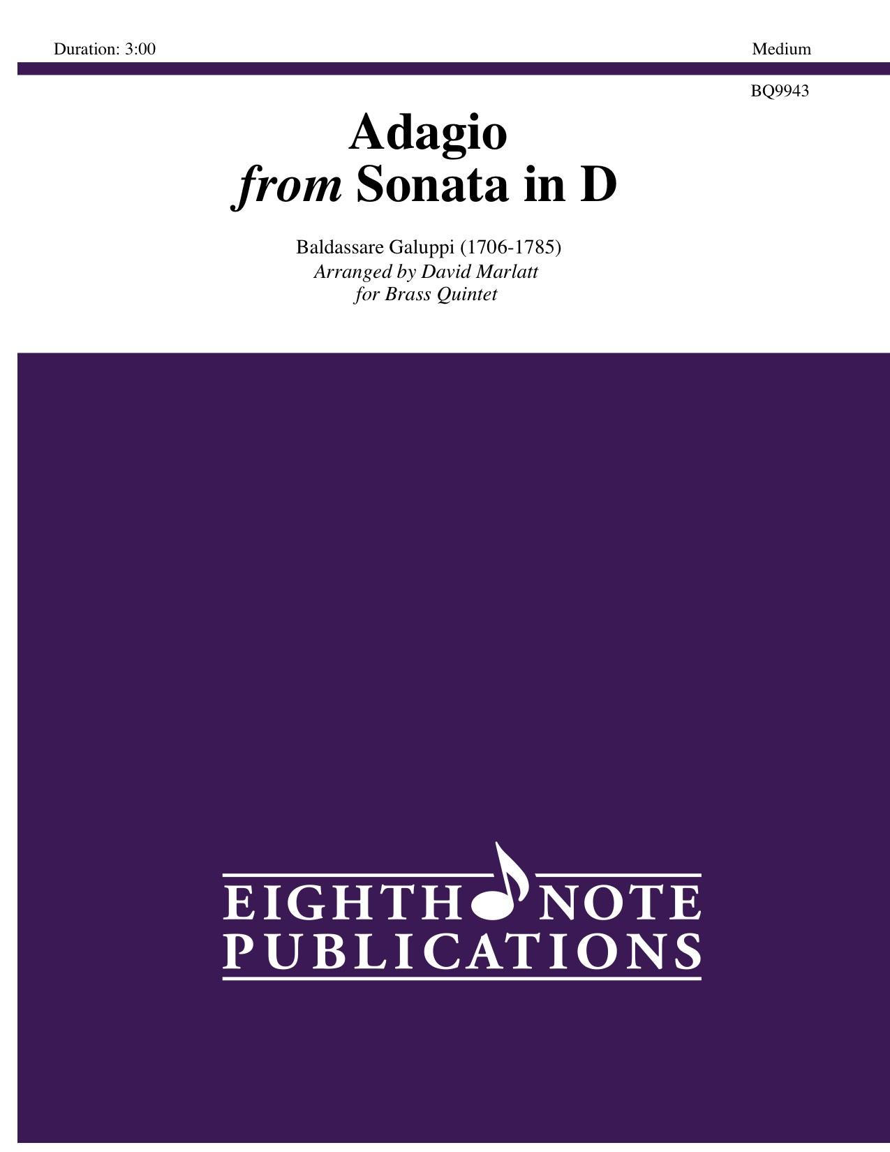 Adagio from Sonata in D Major - Baldassare Galuppi