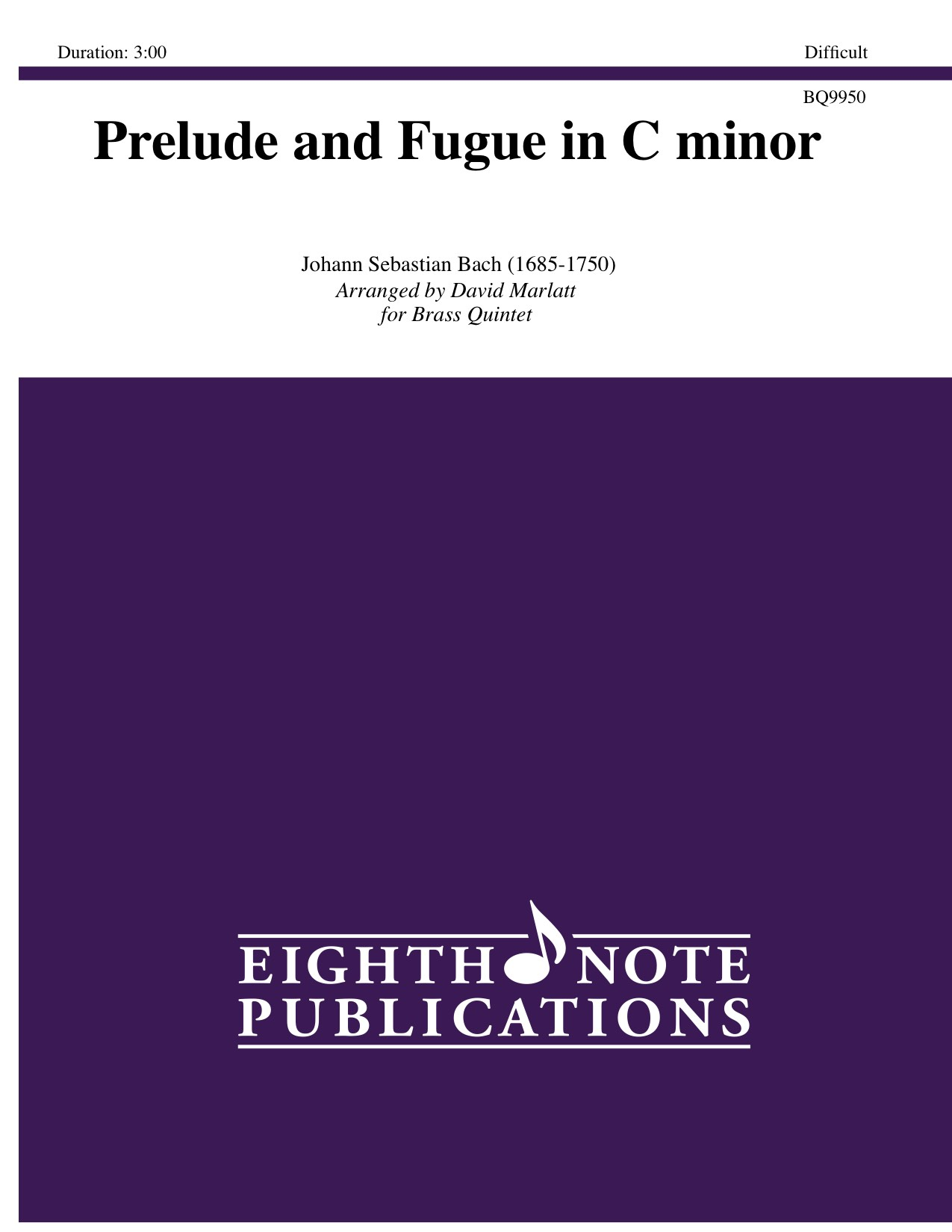 eighth note publications   prelude and fugue in c minor