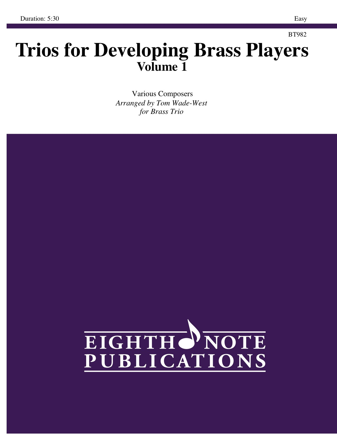 Trios for Developing Brass Players - Volume 1 -  Various