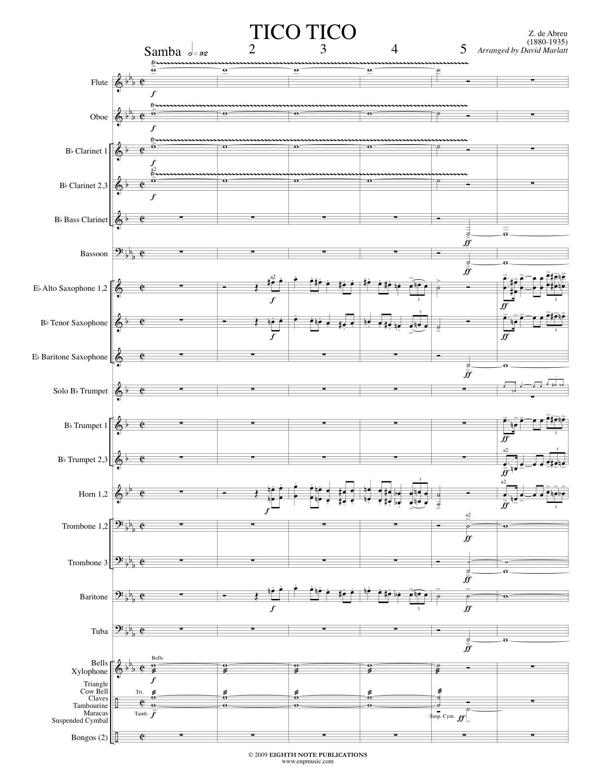 Tico Tico - Solo Trumpet and Band - Zequinha de Abreu