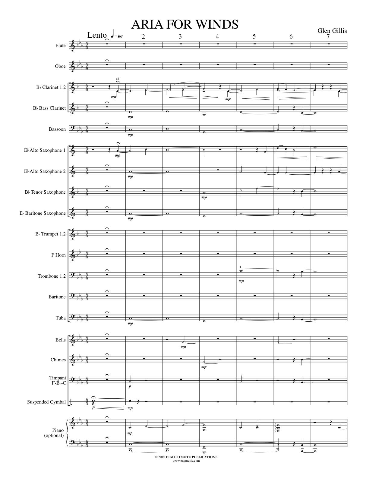 Aria for Winds - Glen Gillis