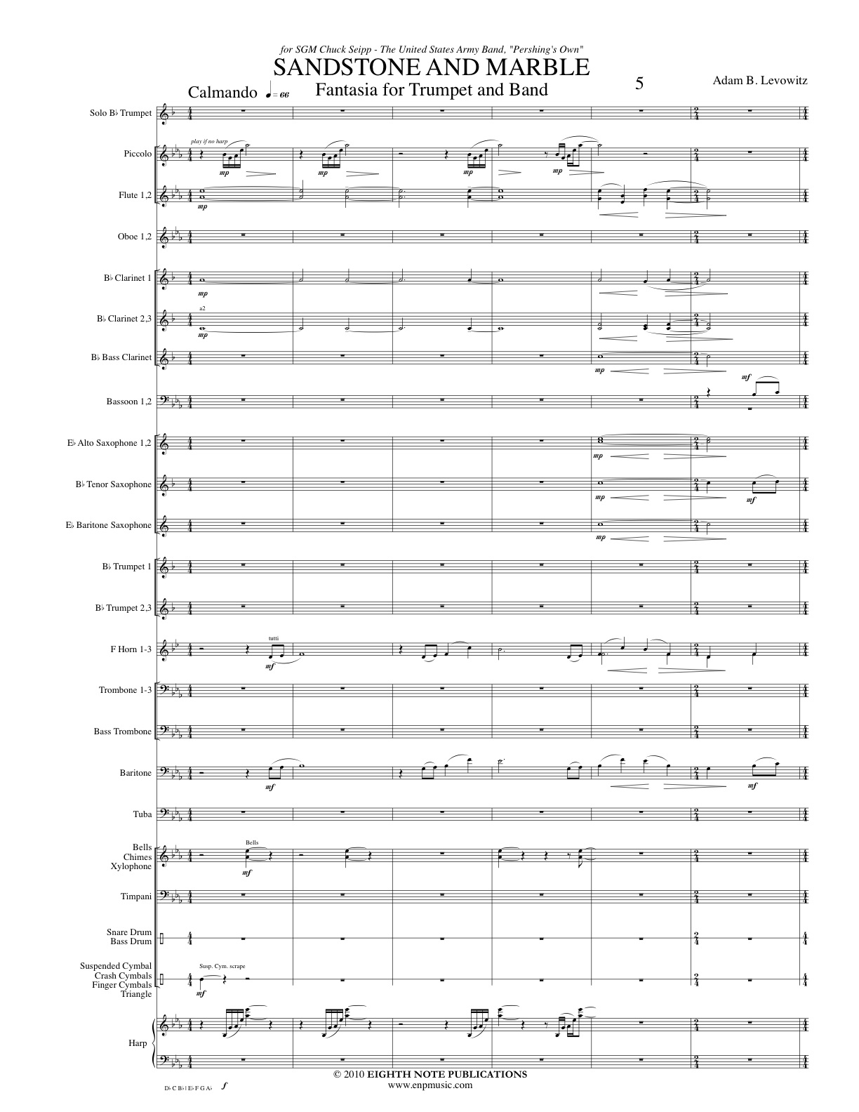Sandstone and Marble - Fantasia for Trumpet and Band - Adam B. Levowitz