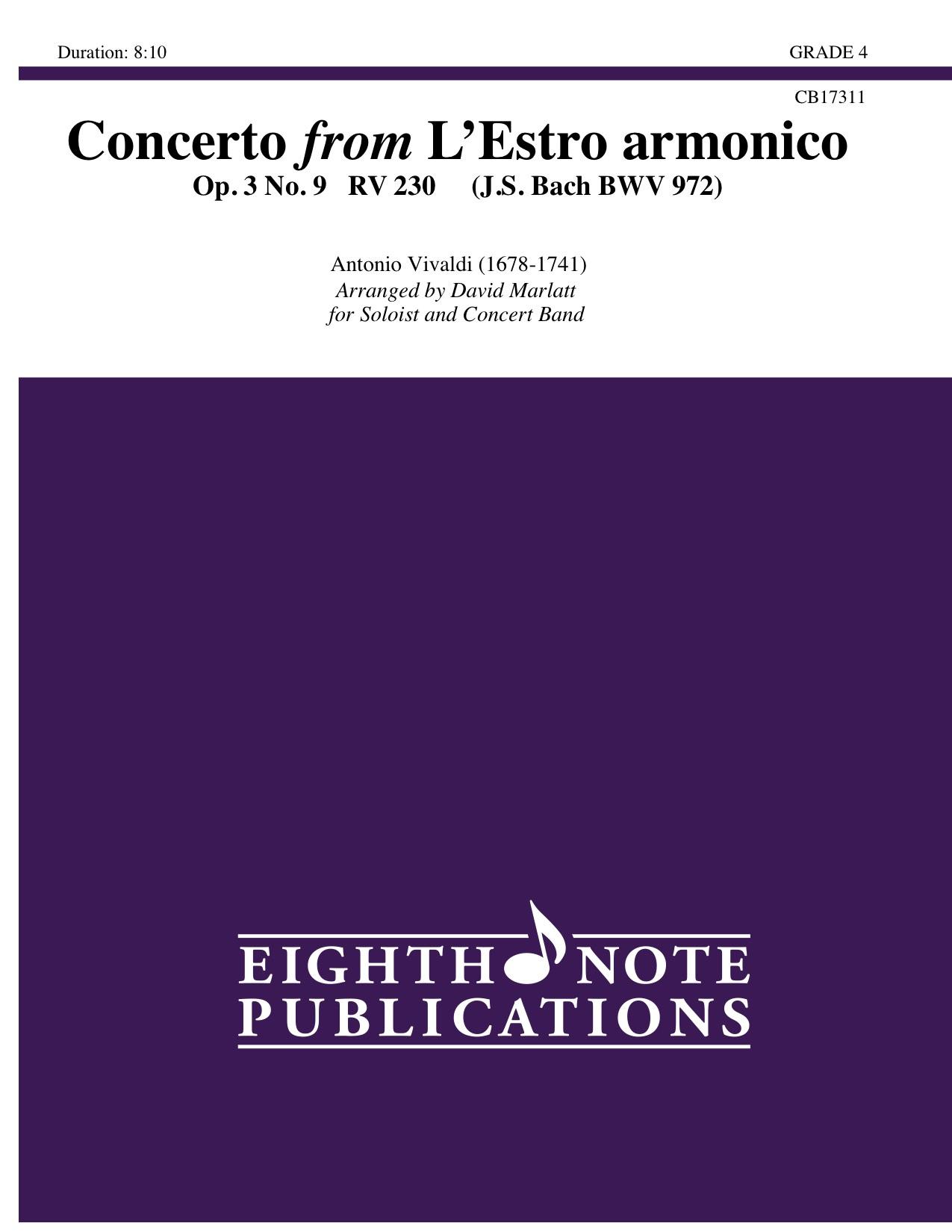 Concerto from L�Estro armonico Op. 3 No. 9 RV 230 - Antonio Vivaldi