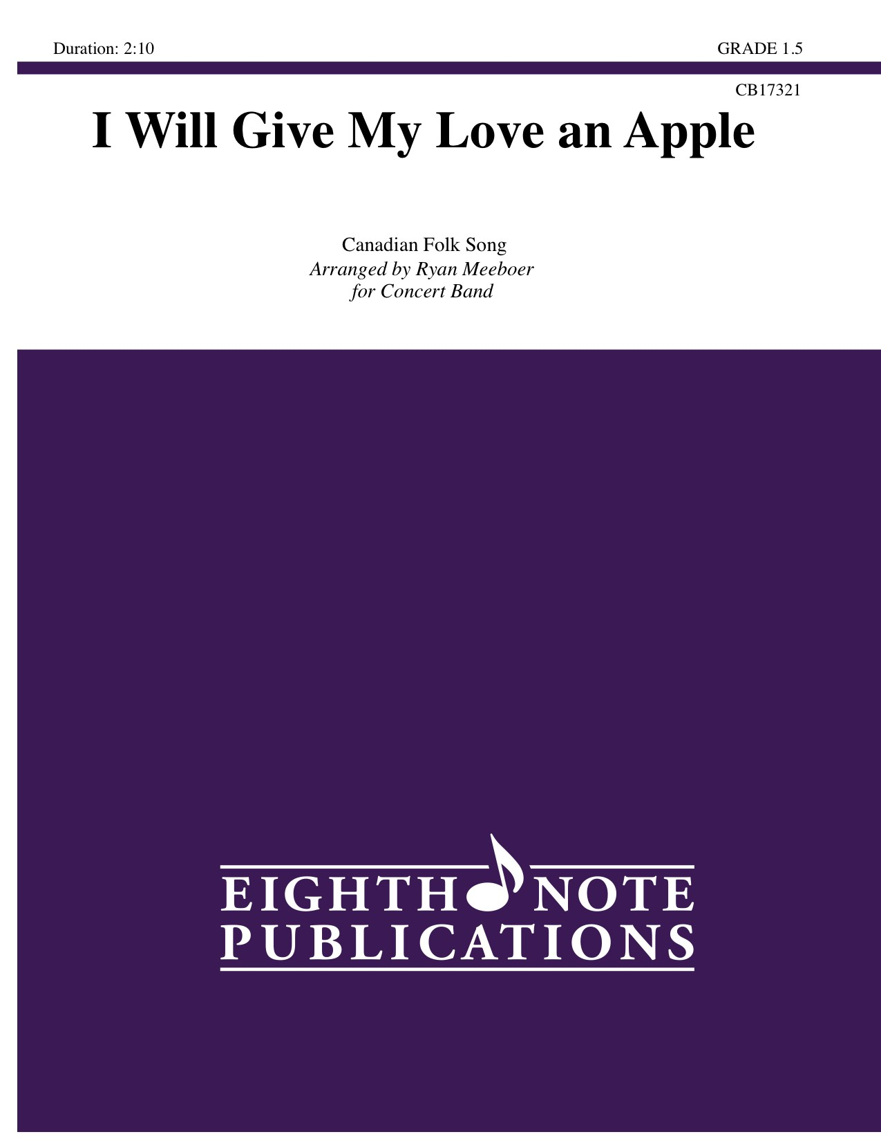 Eighth Note Publications - I Will Give My Love an Apple