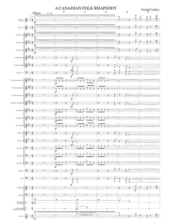 Canadian Folk Rhapsody, A - Donald Coakley