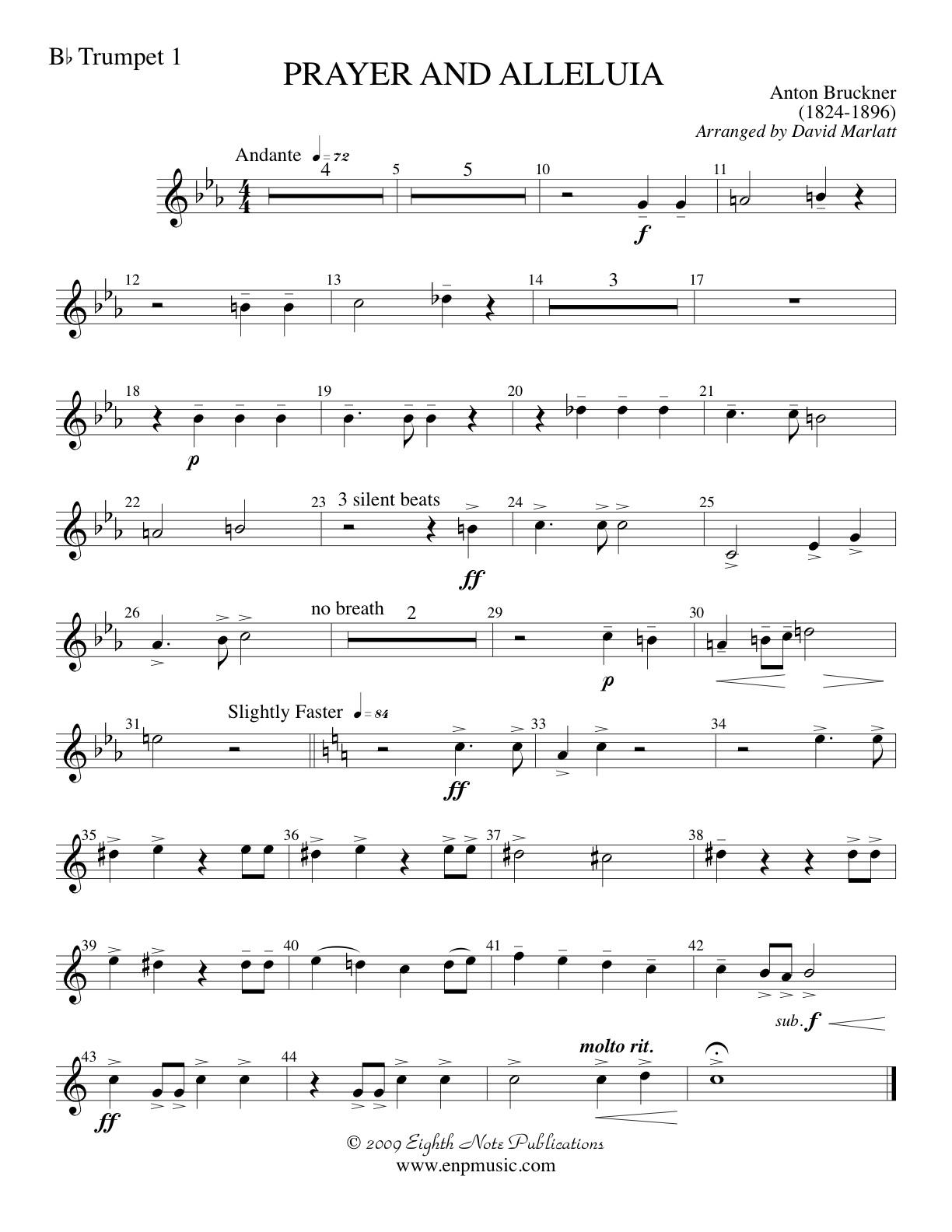 Prayer and Alleluia - Anton Bruckner