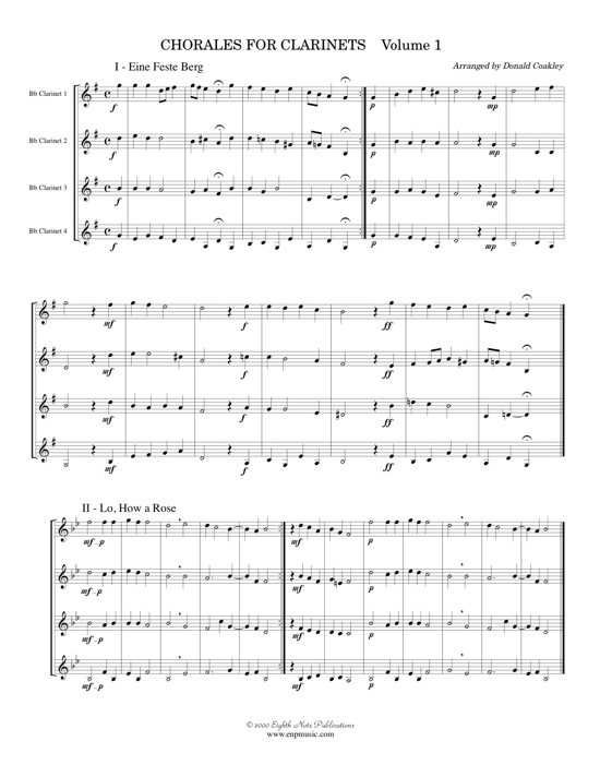 Chorales for Clarinets -  Various
