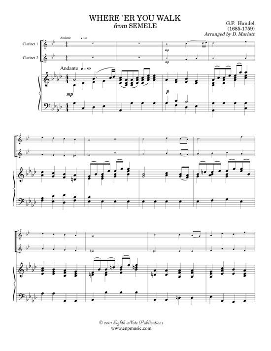 Wherere You Walk     - George Frederic Handel