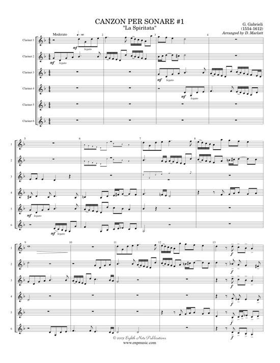 Canzon per Sonare #1 La Spiritata - Giovanni Gabrieli