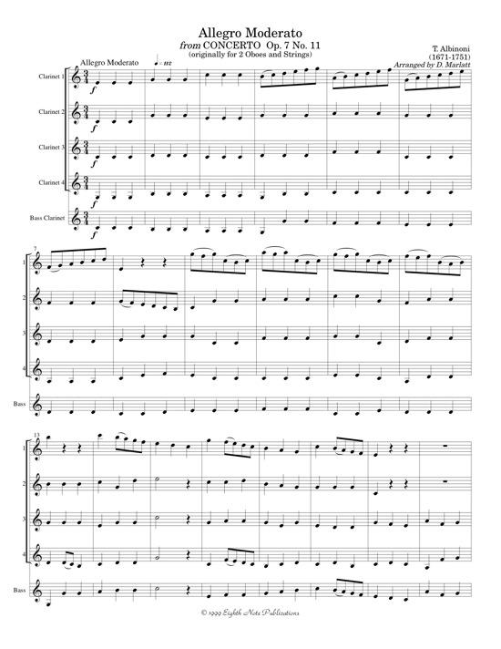 Allegro Moderato - Tomaso Albinoni