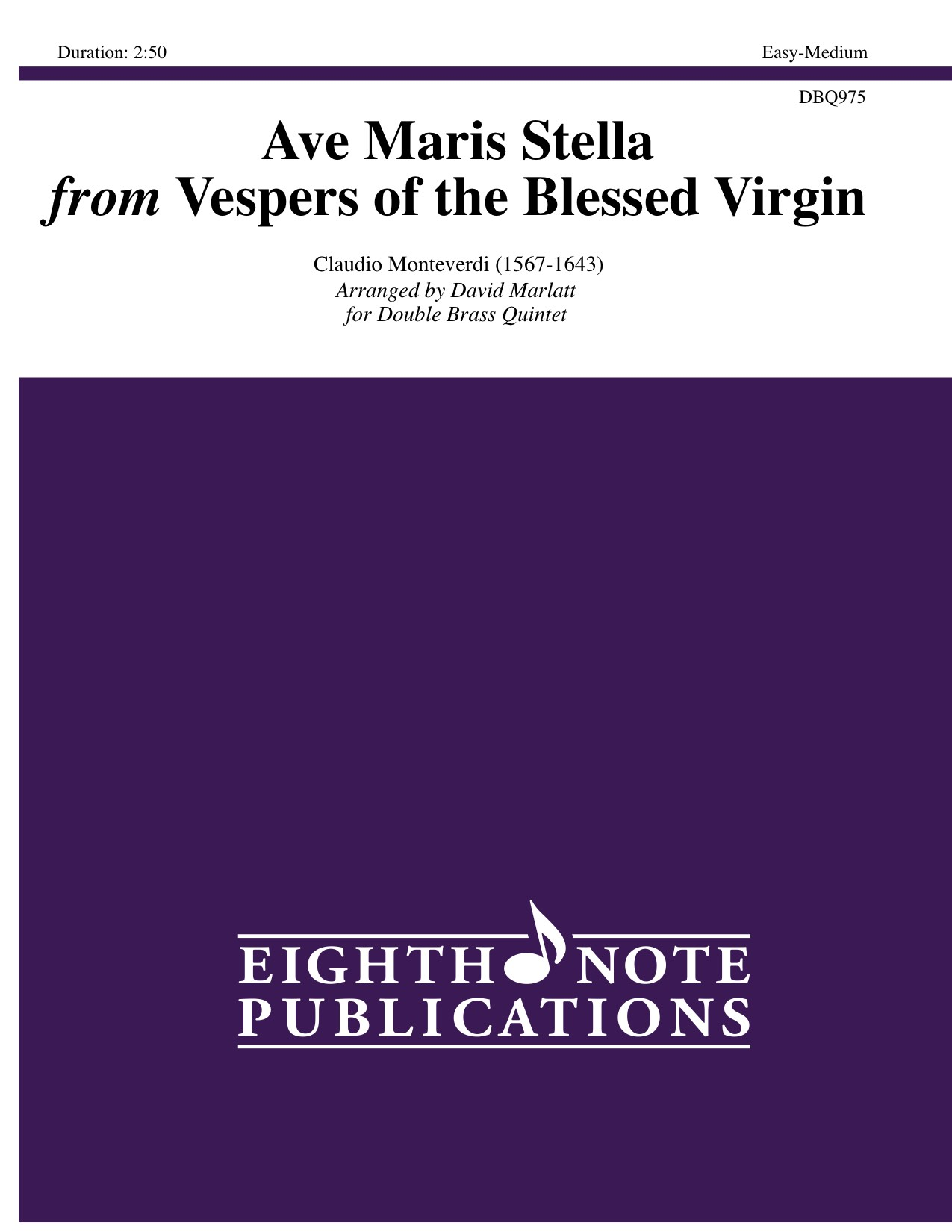 Ave Maris Stella from Vespers of the Blessed Virgin - Claudio Monteverdi