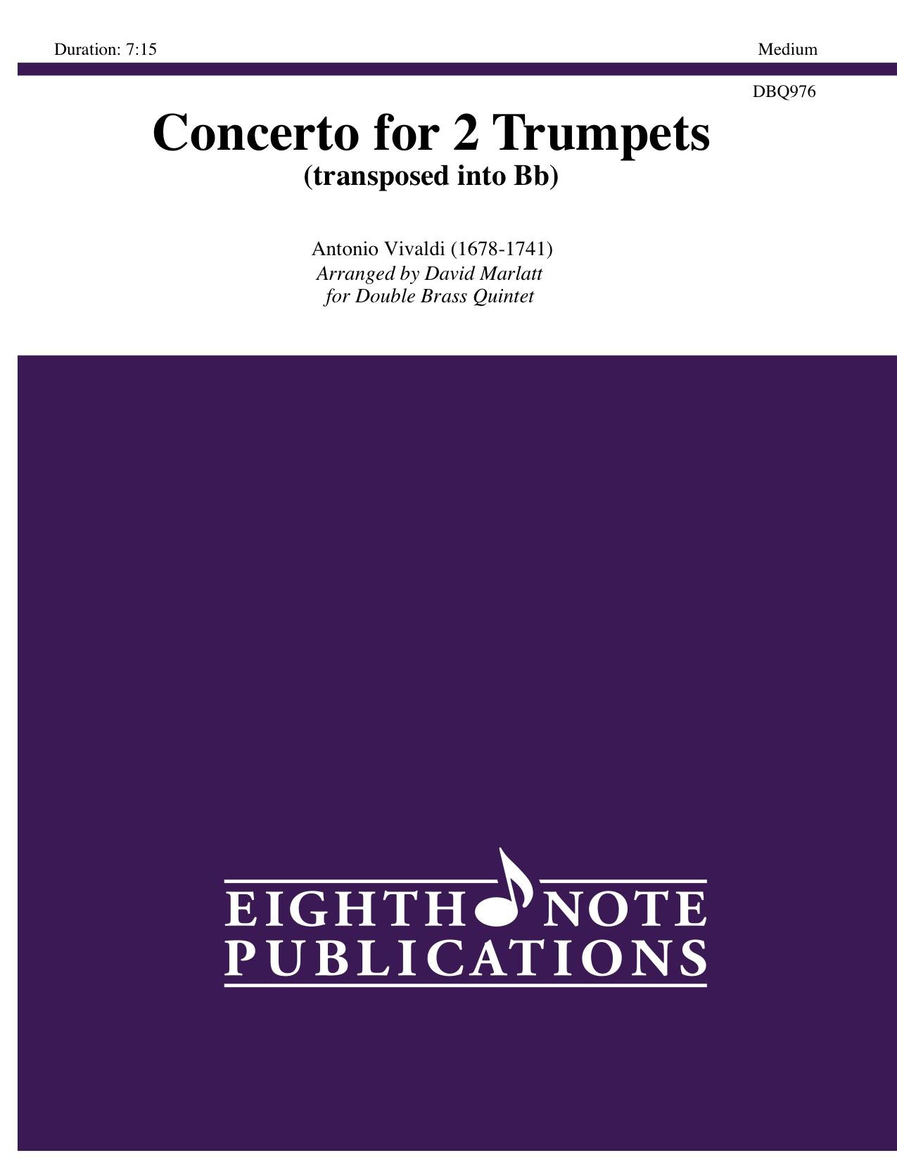 Concerto for 2 Trumpets (transposed into Bb) - Antonio Vivaldi