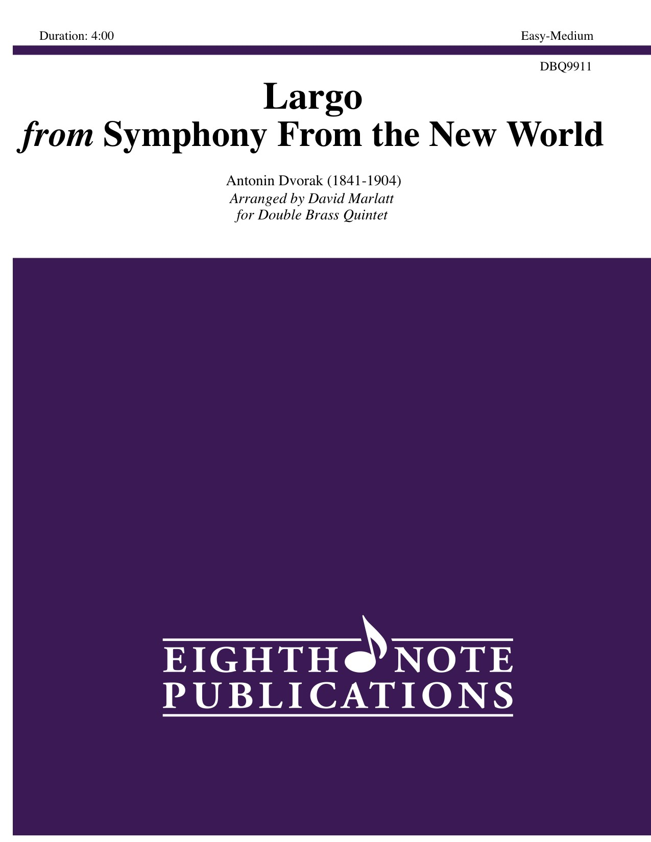 Largo from Symphony From the New World   - Antonin Dvorak