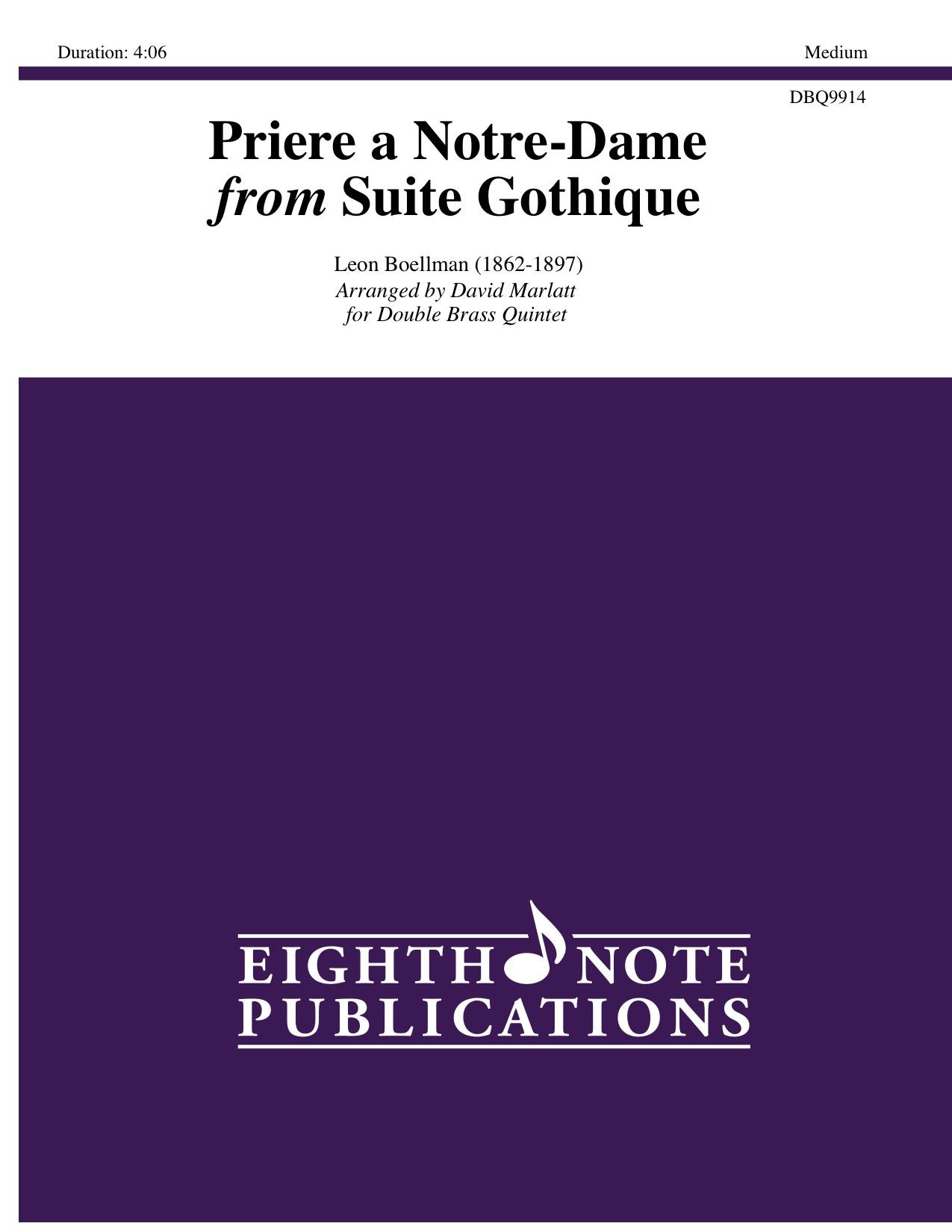 Priere a Notre-Dame from Suite Gothique - Leon Boellman