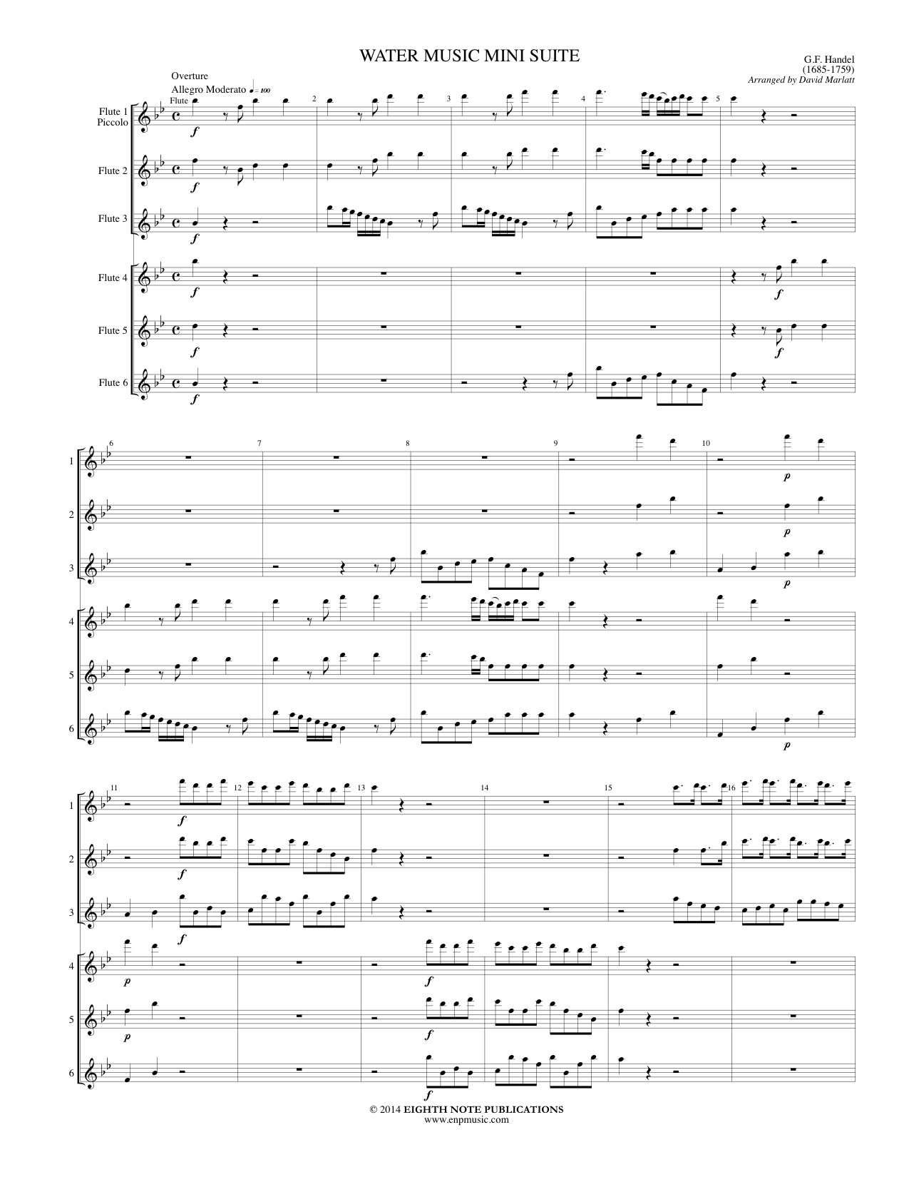 Water Music Mini Suite - George Frederic Handel