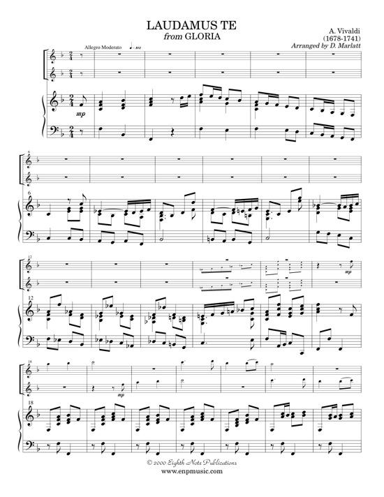 Laudamus Te from Gloria - Antonio Vivaldi