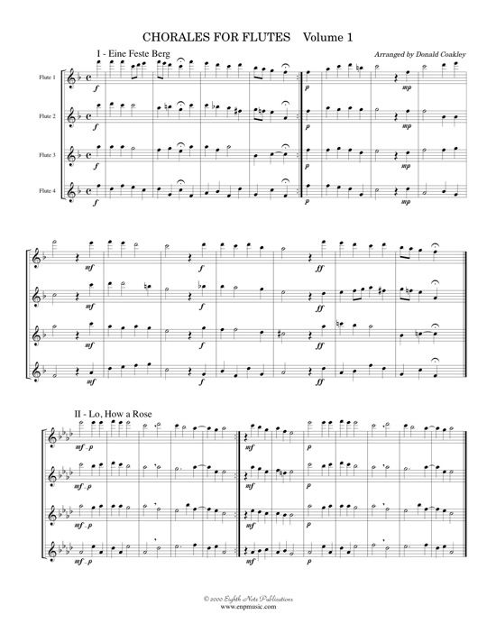 Chorales for Flutes -  Various