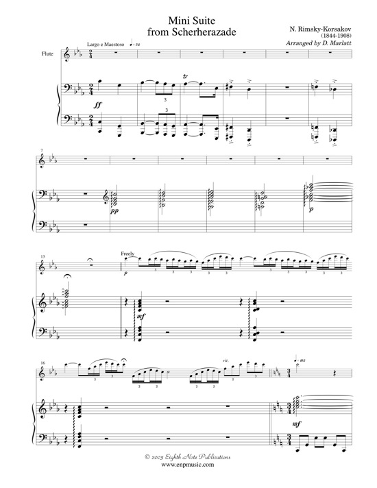 Minisuite from Scheherazade - Nikolai Rimsky-Korsakov