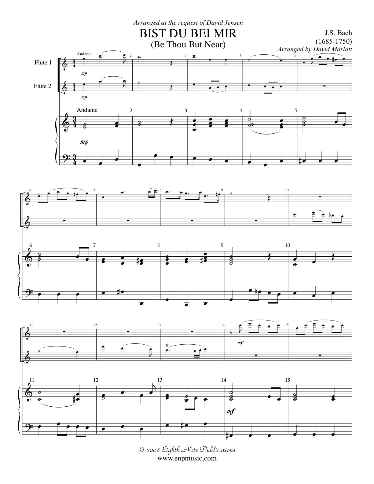 Bist du bei Mir - Johann Sebastian Bach