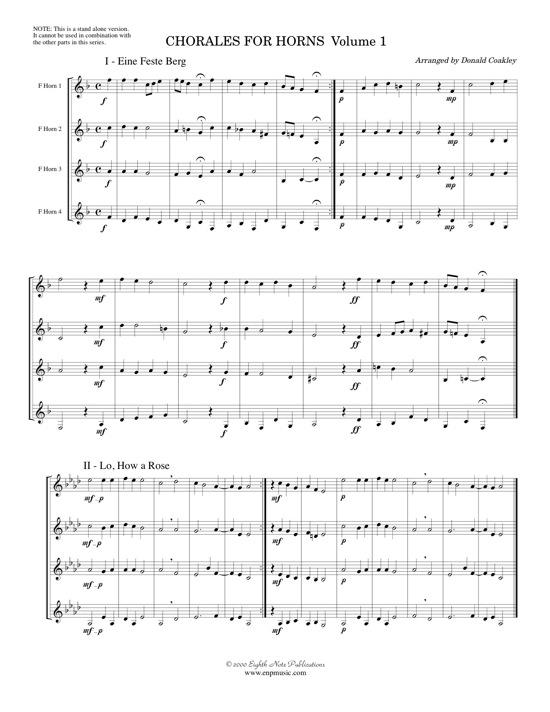 Chorales for Horns-STAND ALONE VERSION -  Various