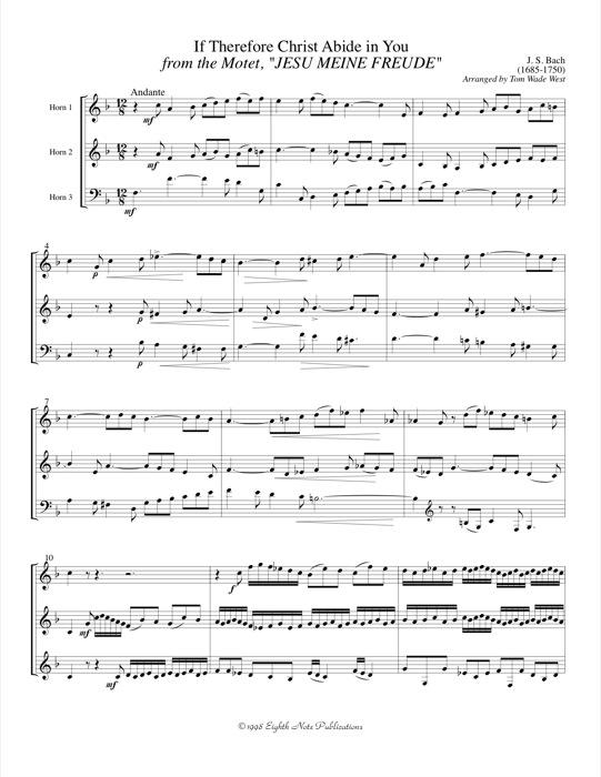 If Therefore Christ Abide in You - Johann Sebastian Bach