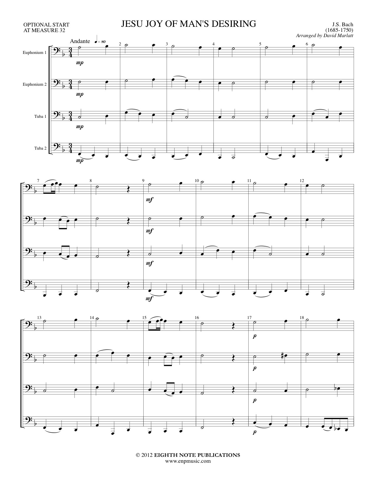 Jesu Joy of Man�s Desiring - Johann Sebastian Bach