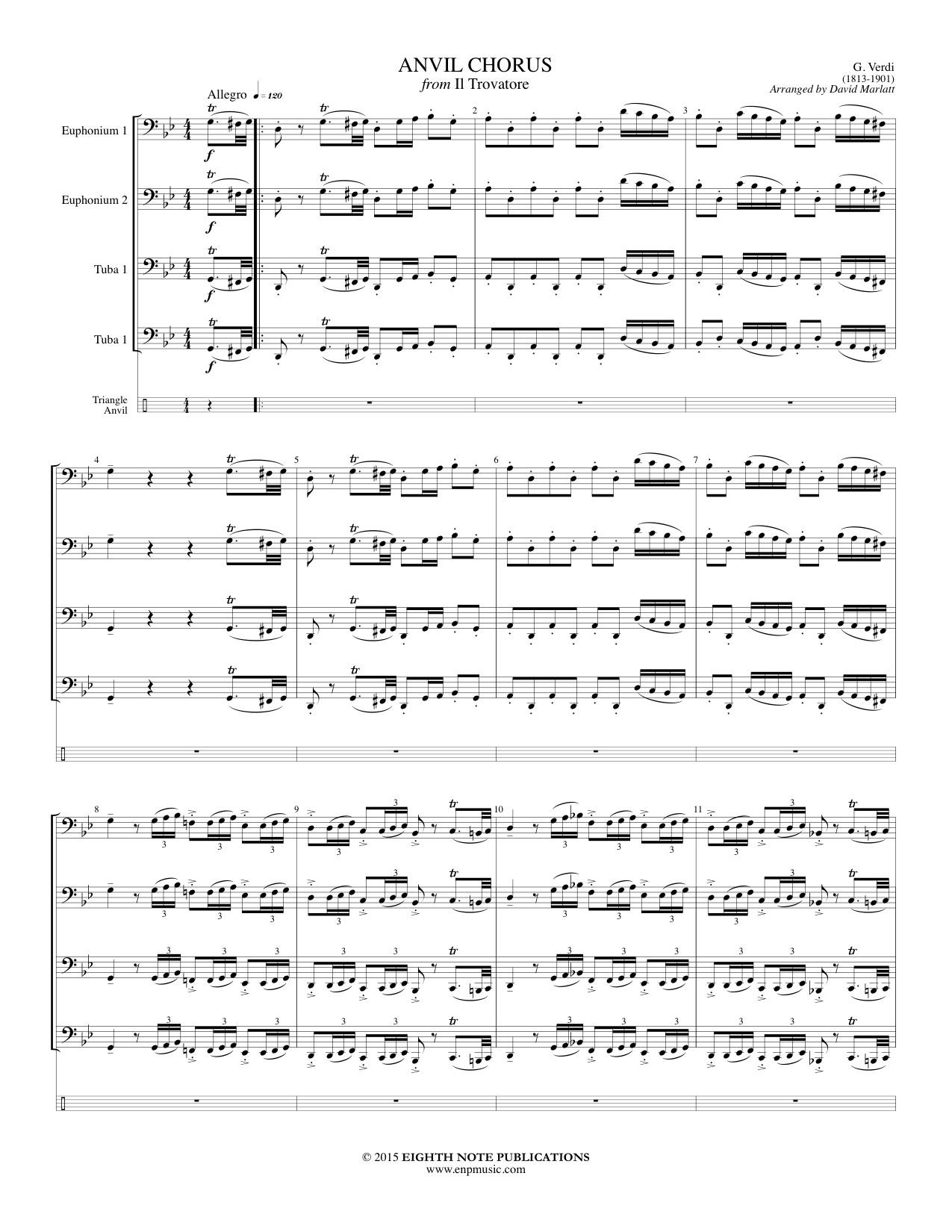 Anvil Chorus from Il Trovatore - Giuseppe Verdi