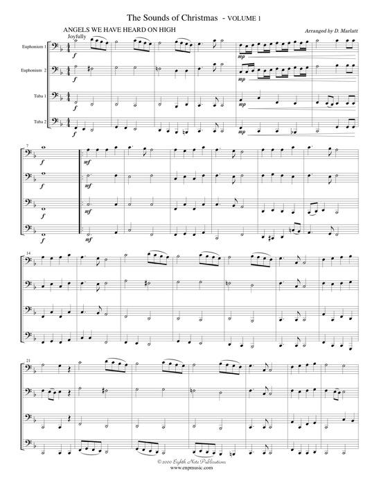 Sounds of Christmas, The - Volume 1 for 2 Euphonium, 2 Tuba ...