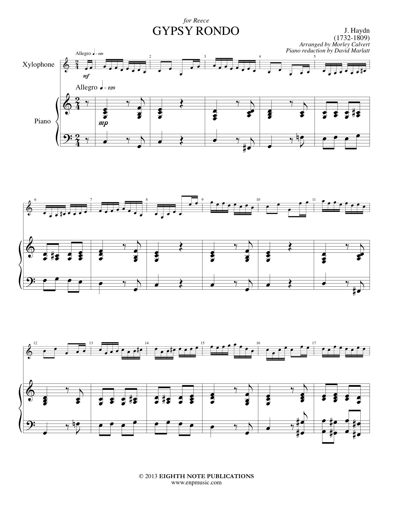 Gypsy Rondo - Xylophone Solo - Franz Joseph Haydn