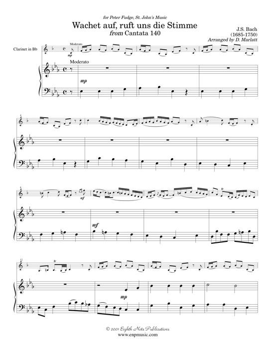 Wachet Auf from Cantata 140 - Johann Sebastian Bach