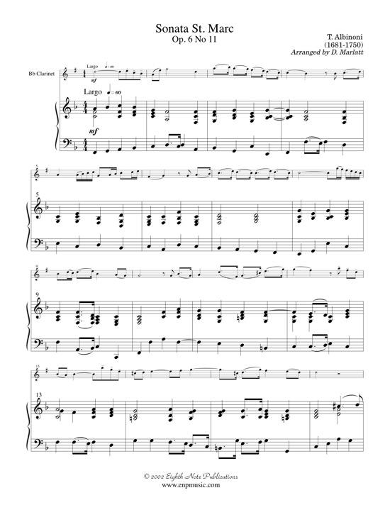 Sonata St. Marc  - Tomaso Albinoni