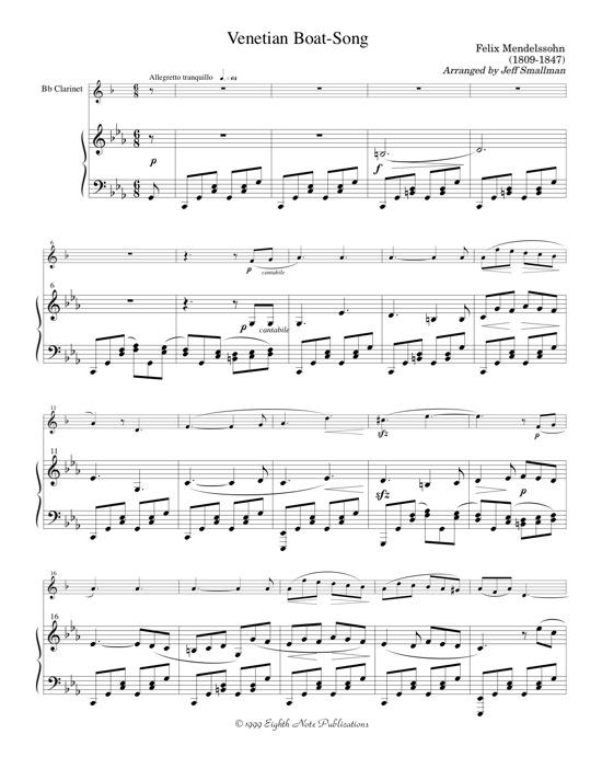 Venetian Boat-song   - Felix Mendelssohn